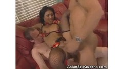 Hot brunette toys her snatch in a solo show in hd Thumb