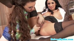 Brunette babe katja kassin gets drilled in hd Thumb