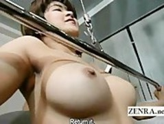 Subtitled Japanese ENF shy nudist weight training class Thumb