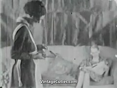 Magician magically makes her clothes disappear vintage Thumb
