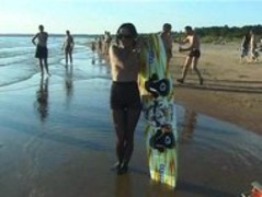 Candid nude nudist teenager butt on the public beach Thumb