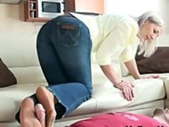 Granny Nylon Footjob And Spit 9 mature mature porn granny old cumshots cumshot Thumb