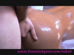 FemaleAgent. Agent gets oiled up by massuse client Thumb