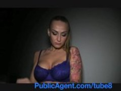 PublicAgent Tattooed blonde model take cash for sex Thumb