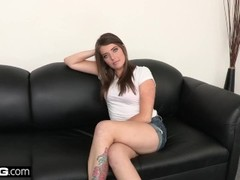 Jorden Kennedy gets a load in the mouth for her audition Thumb
