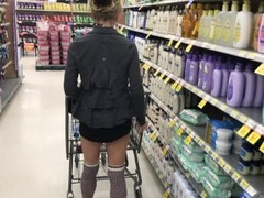 TRYING SHOES NO UNDER WEAR SHORT SKIRT BUBBLE BUTT WALMART ADVENTURES! Thumb