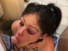 JezabelJamez toilet blow leashed up used for loads garbage pail girl trashy Thumb