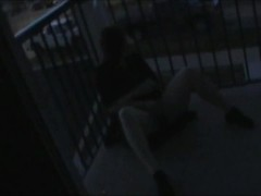 I caught her masturbating on the balcony! Spanked hard as a punishment. Thumb