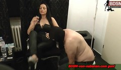 german born skave and his cigarette smoking bdsm fetisch lady Thumb