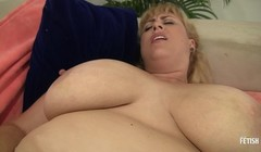 Hot blonde BBW MILF have lesbian sex for the first time Thumb