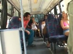 Kinky brazilian guys organized an anal orgy in public bus Thumb