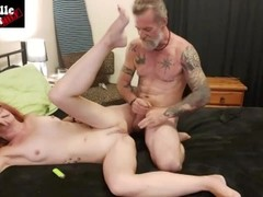 WEED SEX part 2 - hot MILF smokes a blunt while getting fucked hard Thumb