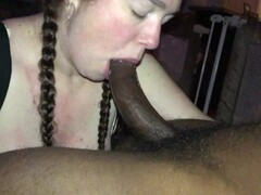Whore Wife sucks all of a BBC and swallows while husband films Thumb