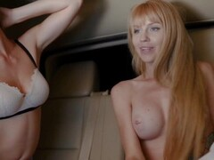 Two blondes fuck in the car Thumb